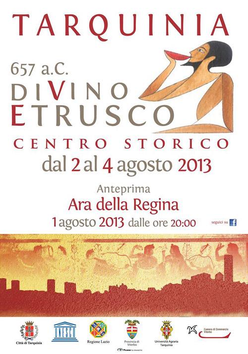 """A Tarquinia torna """"DiVino Etrusco"""" dal 2 al 4 agosto"""