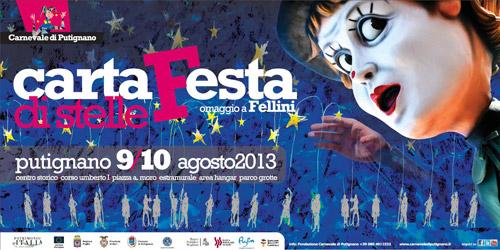 """Putignano, il 9 e 10 agosto """"CartaFesta sotto le stellle"""""""