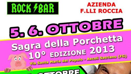 Ascoli Satriano, il 5 e 6 ottobre la Sagra della Porchetta