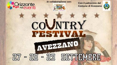 Abruzzo. Ad Avezzano dal 27 settembre il Country Fest