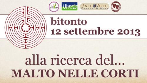 """Bitonto, il 12 settembre """"Alla scoperta di Malto nelle Corti"""""""