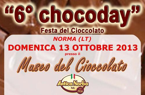 Lazio. A Norma il 13 ottobre il Chocoday