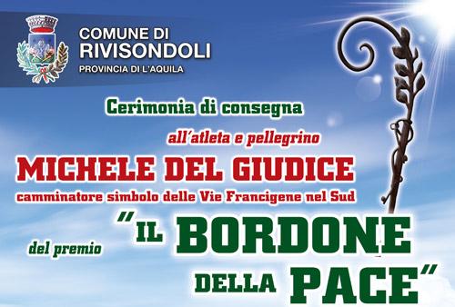 """Rivisondoli, il 23 settembre la consegna del premio """"Il Bordone della Pace"""""""