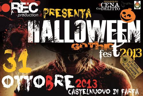 """Sabina: la notte si tinge di giallo a Castelnuovo di Farfa con l""""Halloween Gothic Fest 2013"""""""
