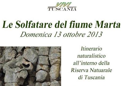 Tuscania. Le solfatare del fiume Marta