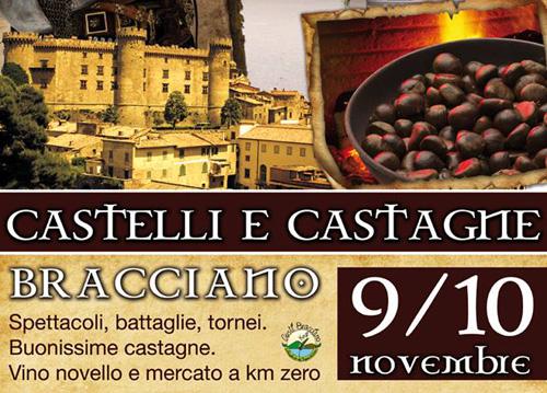 """Bracciano, il 9 e 10 novembre """"Castelli e Castagne"""""""