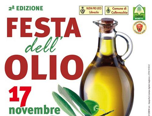 """Sabina: il 17 novembre olio nuovo """"in festa"""" a Collevecchio"""