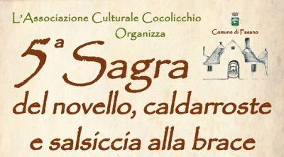 Novello, caldarroste e salsiccia: sagra a Fasano il 17 novembre