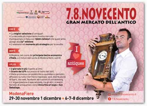 """A Modena apre il """"Gran Mercato dell'Antico"""""""