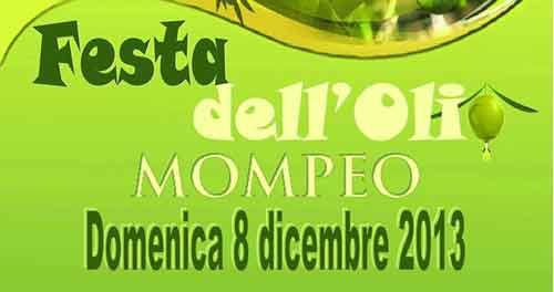 """Natale in Sabina: """"Festa dell'Olio Nuovo"""" a Mompeo"""
