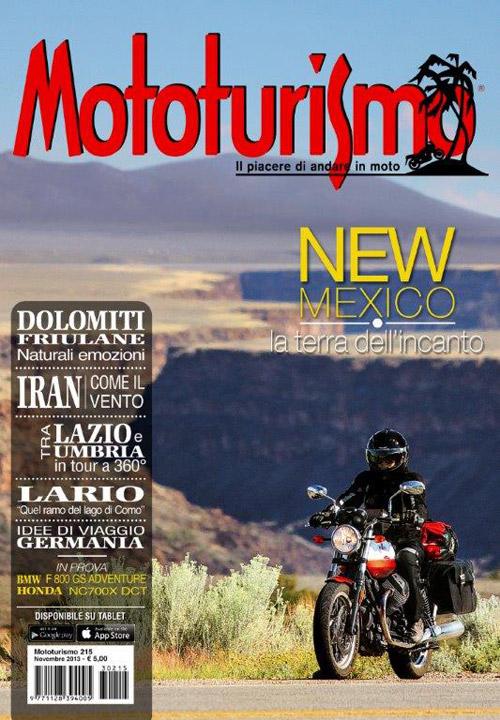 La copertina di Mototurismo