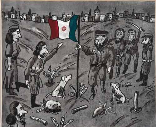"""Roma. Al Vittoriano in mostra """"Novanta artisti per una bandiera"""""""