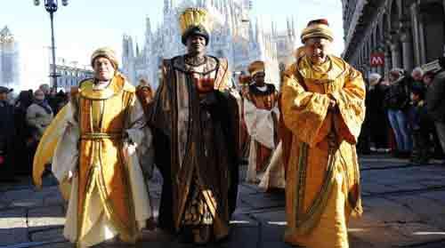 Il corteo dei Magi a Milano