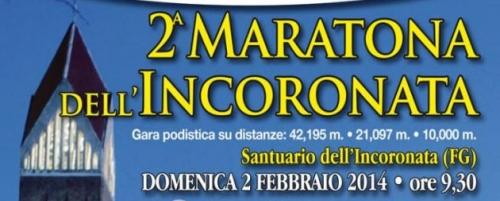 Foggia. Il 2 febbraio la Maratona dell'Incoronata
