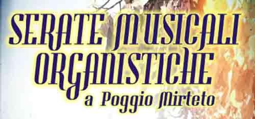 Poggio Mirteto, al via il 19 gennaio le serata musicali organistiche