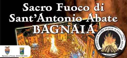 """Viterbo. A Bagnaia il 16 e 17 gennaio il """"focarone"""""""