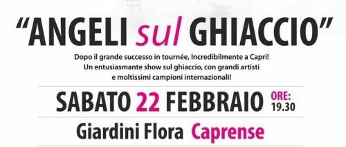 """Sabato 22 febbraio """"Gli Angeli sul Ghiaccio"""" a Capri"""