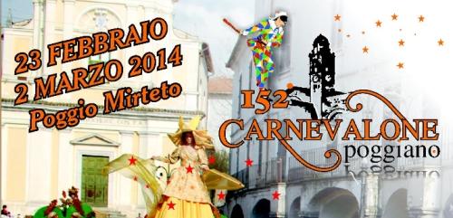 Sabina: grande festa a Poggio Mirteto per 152° il Carnevalone Poggiano