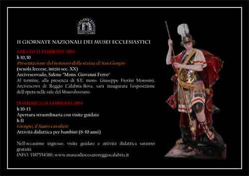 Apertura straordinaria al Museo Diocesano di Reggio Calabria il 15 e 16 febbraio