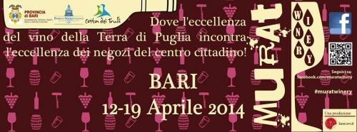 Bari. Dal 12 al 19 aprile Murat Winery