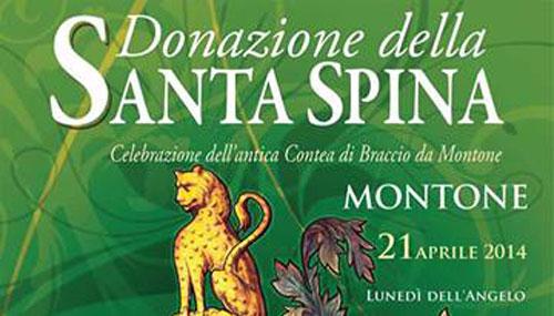 """Umbria. A Montone il 21 aprile la """"Donazione della Santa Spina"""""""