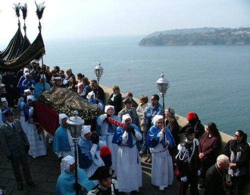 Un'immagine deila processione a Procida