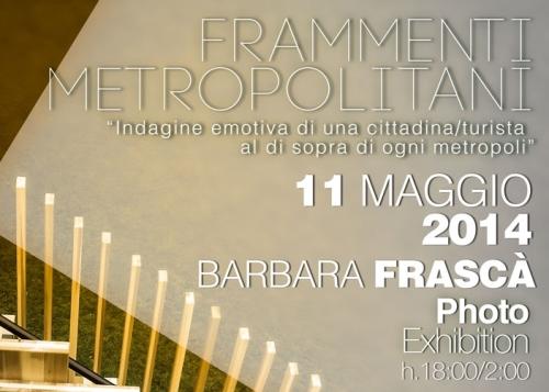 """Roma, l'11 maggio la mostra fotografica """"Frammenti Metropolitani"""""""