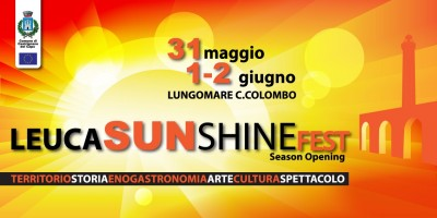 "Salento. Al via il ""Leuca sunshine fest"""