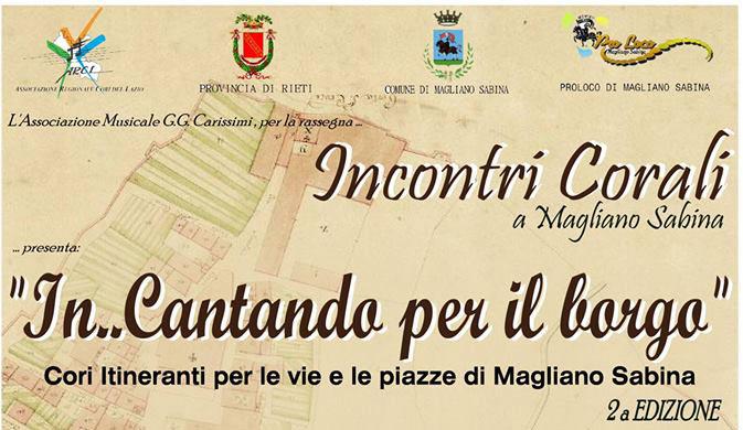 Rieti: weekend di musica fra i vicoli di Magliano Sabina