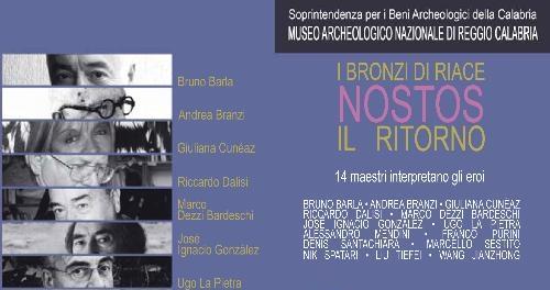"""Reggio Calabria, l'omaggio """"pittorico"""" ai Bronzi di Riace"""