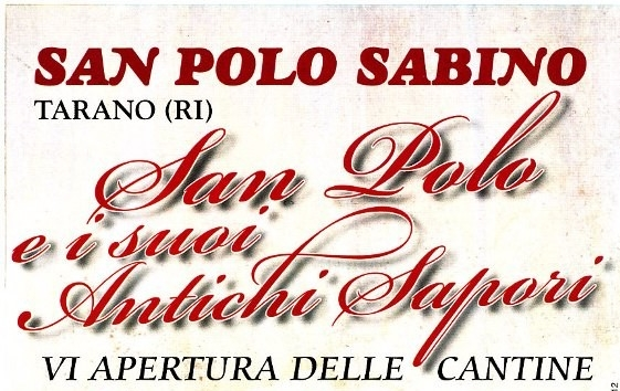 Sabina Tiberina: a San Polo aprono le antiche cantine