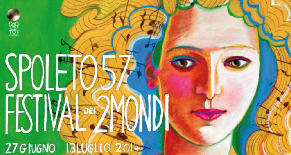 Il manifesto dell'edizione numero 57 del Festival dei Due Mondi
