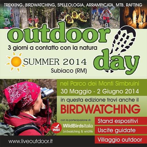 """Subiaco ospita """"Outdoor Day"""". Tre giorni per vivere la natura"""
