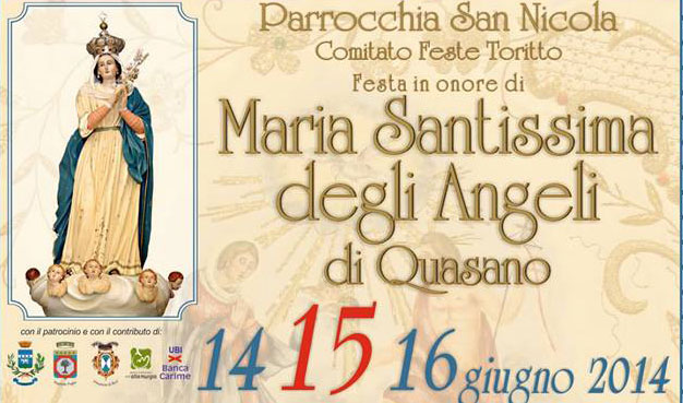 Puglia. Toritto celebra la festa della Madonna degli Angeli di Quasano