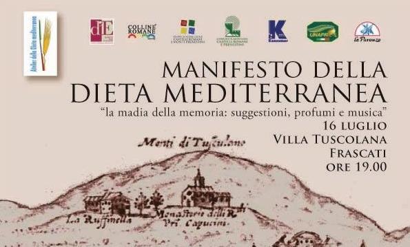 A Frascati per parlare del Manifesto della Dieta Mediterranea