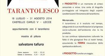 Tarantolesco, le pitture di Tafuro in mostra a Lecce