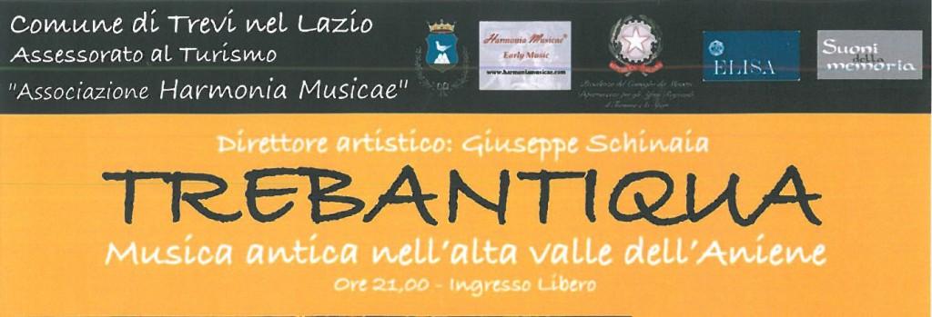 """A Trevi nel Lazio torna """"Trebantiqua"""" la musica antica nella Valle dell'Aniene"""