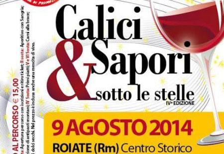 Lazio. A Roiate, il 9 agosto calici e sapori sotto le stelle