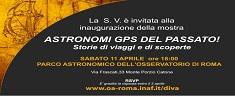 Roma: a Monte Porzio Catone in mostra la storia dell'Astronomia